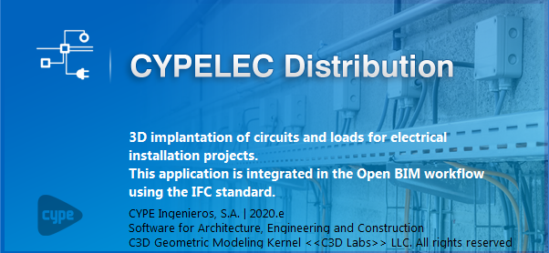 CYPELEC Distribution. 3D Implantation of circuits and loads